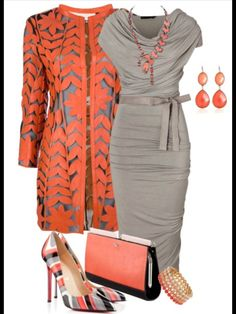 Love: jacket, love the cutout design. fit of the dress. Dislike: purse Hate: shoes, earrings, necklace, bracelet. Have: