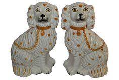 Staffordshire-Style Dogs from Nomadic Vintage on OneKingsLane.com. http://www.onekingslane.com/shop/nomadicvintage