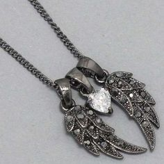 Bling Bling Womens Necklace, Angel Wings Stones « Holiday Adds