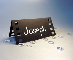 50 Place Cards, Cinema Film, Movie Themed, Holliwood, Original Calligraphy, Cutout, Scrapbook, Papercut by Mama Tita on Etsy, $119.40 AUD