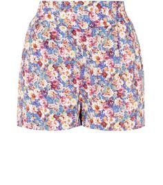 Petite Blue Ditsy Floral Print Shorts. Just bought!