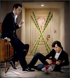 """Wow. Jimlock or Sheriarty? either way...Wow. """"Bloody Valentine by ~pakost"""" available at http://pakost.deviantart.com/gallery/?offset=24#/d3a80or"""