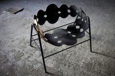 MSL 35 chair by Mads Sætter-Lassen, elm, steel, wool, 2013.