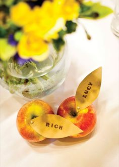 How adorable is this idea for place cards?!? And pretty cheap too - a fun DIY project!