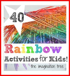A huge collection of the best rainbow crafts and play activities for kids!