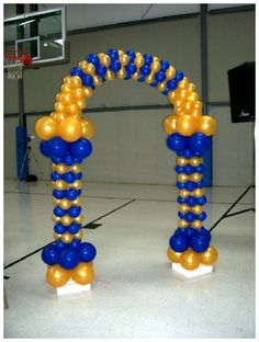 """Balloon Arch for """"Congratulations 2014 Officers"""" Cake Table Baby Shower Deco, Baby Shower Balloons, Birthday Balloons, Baby Shower Parties, Ballon Arch, Balloon Columns, Balloon Garland, Balloons And More, Blue Balloons"""