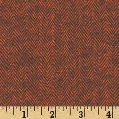 Primo Plaids Harvest Flannel Herringbone Rust from @fabricdotcom  From Marcus Brothers Fabrics, this soft, lofty flannel is double napped (brushed on both sides), yarn dyed and medium weight (6.5 oz per square yard). Use for quilting, shirts, lounge wear and blankets. Colors include  brown and rust.