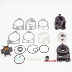 8 and 9.9 Horsepower Mercury and Mariner 4-Stroke Outboards with Standard Gearcase Quicksilver 89981Q1 Water Pump Repair Kit