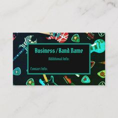 Shop Neon Rock Guitar Musician Business Card created by BlueRose_Design. Business Card Design, Business Cards, Musician Business Card, I Shop, Guitar, Things To Come, Neon, Rock, Create