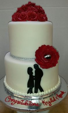 Engagement cake @ cakecutters by Kimberley Morley-Barnes on facebook