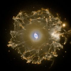 The Cat's Eye Nebula or NGC 6543, is a relatively bright planetary nebula in the northern constellation of Draco, discovered by William Herschel on February 15, 1786