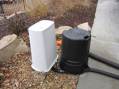 Surviving Winter - using trash cans to over with insulation