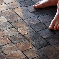 Home Flooring Ideas, a great way to re-cycle & have beautiful unique floors, plus save money!