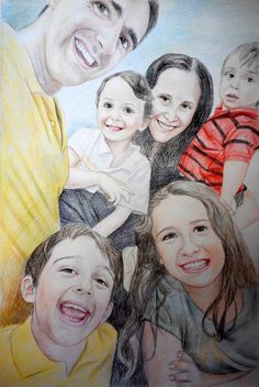 Pencil Family Portraits | Family Paintings in Pencil........ #familyportraits #paint #painting #paintyourlife