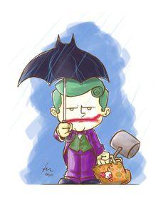 """Joker and his """"Bat-brella."""" Mycroft would be proud."""