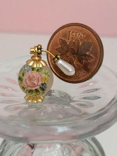 Perfume bottle by France Cabana Hitty doll scale   www.menuartminiatures.com