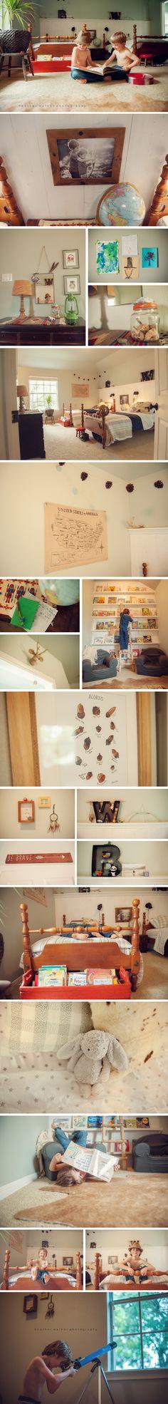 Boys Adventure Room Decoration - Capturing Joy with Kristen Duke Boys Room Makeover Ideas! Boy Decor, Boys Room Decor, Boy Room, Bedroom Themes, Kids Bedroom, Books For Boys, Trendy Kids, Kid Spaces, Room Inspiration