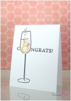 Engagment Congrats Card by @Damask Love (aka Amber Daigre)