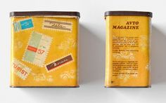"""1970: Andrej Troha Cigarette humidor """"Avto Magazine""""    Protective cigarette box for use in a car."""