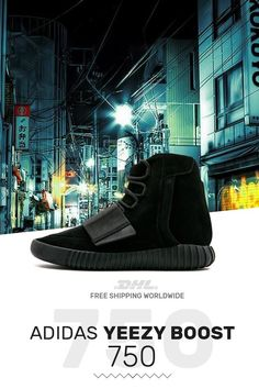 Order authentic Adidas Yeezy Boost 750 Triple Black with 8b66c6a02