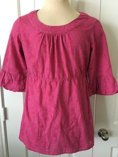 Sonoma - Ladies Tunic Blouse - L- Cranberry Color - Mid Bubbled End Sleeves #Sonoma #Tunic