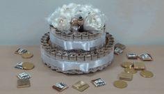 оригинальный подарок, денежно-конфетный торт