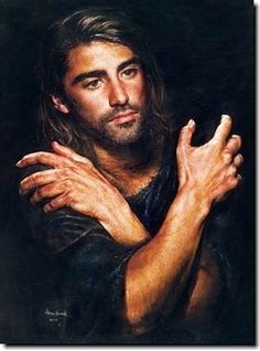 "Painting by akiane kramarik - not sure if I believe in her visions, as her depiction of Jesus has changed...yet with increased skill it's easier to get out of us what we see in our heads. However, Jesus had ""no beauty that we should desire Him."" (Is. 53:2)"