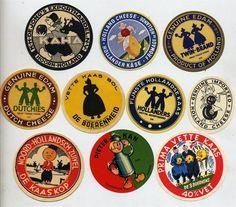 SET OF 10 ORIGINAL DUTCH CHEESE LABELS - CARTOONS & SILHOUETTES | eBay