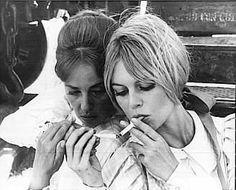 Jeanne Moreau & Brigitte Bardot.