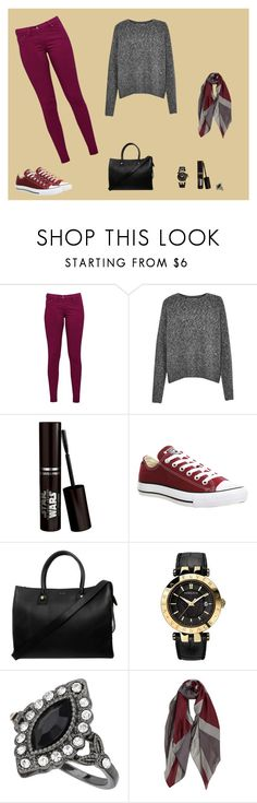 """""""Bez naslova #13"""" by emina-minchy ❤ liked on Polyvore featuring Great Plains, French Connection, Converse, Paul & Joe, Versace and Miss Selfridge"""