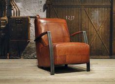 Vintage leren fauteuil Basil - ROBUUSTE TAFELS.NL Unieke robuuste maatwerk meubelen!