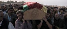 IS Begrafenis van YPG-strijders in Suruc (Turkije). Foto: Andreas Stahl