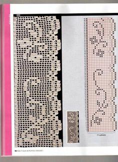 crochet - filet edgings - barrados / bicos filet - Raissa Tavares - Λευκώματα Iστού Picasa