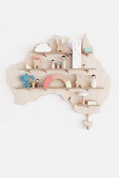 Plywood Australia Map - My Treasure Shelf