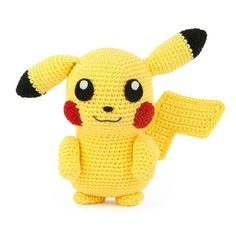I had to crochet the most famous Pokemon of them all: Pikachu! Also think it& one of the cutest Pokemon. This amigurumi pattern is FREE. Pikachu Pikachu, Amigurumi Pikachu, Crochet Pikachu, Pokemon Crochet Pattern, Crochet Amigurumi Free Patterns, Crochet Animal Patterns, Stuffed Animal Patterns, Crochet Animals, Free Crochet