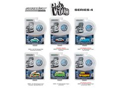 Greenlight Vee Dub Series 4, 6pc Diecast Car Set 1/64 Diecast Model Cars by Greenlight - Brand new 1:64 scale diecast model car of Greenlight Vee Dub Series 4, 6pc Diecast Car Set by Greenlight. Limited Edition. Brand New Box. Has Rubber Tires. Detailed Interior, Exterior. Officially Licensed Product. Each Model is Packed in Individual Blister Pack. Might come with a chase car instead of one of the cars in a set, but it is not guaranteed. Dimensions of Beetles Approximately L-2 Inches Long…