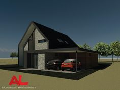 AL architectuur - Schuurwoning in Boerakker | | AL Architecten BNA | Architectuur | Interieur | Nieuwbouw | Nieuwbouwwoning | Vrijstaande villa | Vrijstaande woning | Woningbouw | Woonhuis | Schuurwoning | Vlakke dakpannen | Schuin dak | Knikdak | Gevelstenen | Baksteen | Zink | Hout | Glas | Frans balkon | Gevelbekleding | Natuurlijke materialen | Wonen | Strak | Modern | Zwart | Grijs | Carport | Veranda | Eigentijds