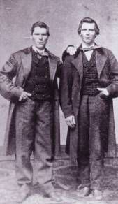 Photo of two men from 1850s