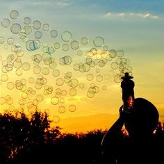 Sunset Bubbles ...#silhouettes #photography #art