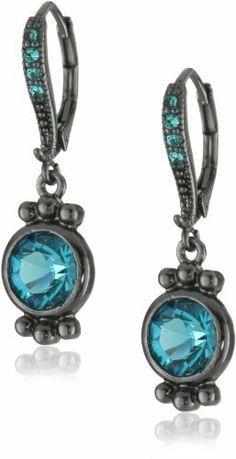 1928 Jewelry Blue Zircon Black Drop Earrings 1928 Jewelry. $28.00. Made in USA