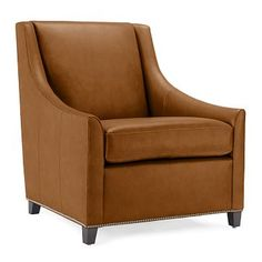 Sweep Leather Armchair #westelm