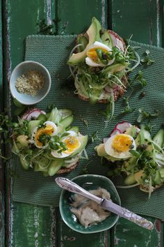 Green Egg Sandwich with Matcha Mayonnaise & Matcha Sea Salt