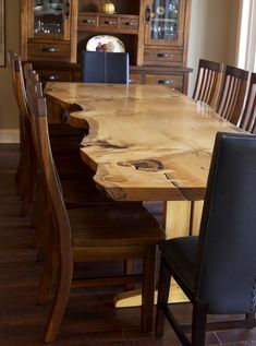 Paul Fuelling Woodworking: we finished this pine slab dining table just in...