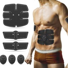 In Design; 1pcs Arm Leg Muscle Trainer Sticker Electrical Body Shaper Stimulator Pad Fit Training Exercise Arm Waist Muscles Loss Slimming Novel