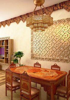 style marocain lampe de table électrique