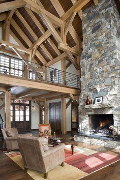 Timber framed barn home