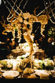 #centerpiece Photography: Docuvitae - docuvitae.com Read More: http://www.stylemepretty.com/california-weddings/2014/05/16/elegant-bel-air-estate-wedding/