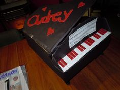 piano valentine box ideas