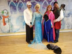 Frozen Angels From the Realms of Glory Christmas Carol Dance How To | Adventures In Dance Olof Elsa Anna Kristoff, and geroge the poodle