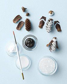 Pinecone Penguin - Martha Stewart Holiday & Seasonal Crafts